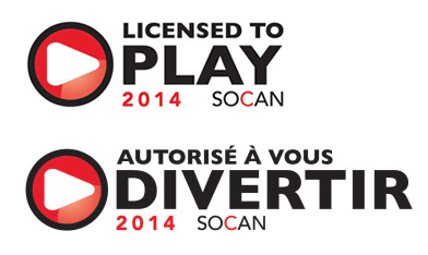 Liscensed to Play - SOCAN